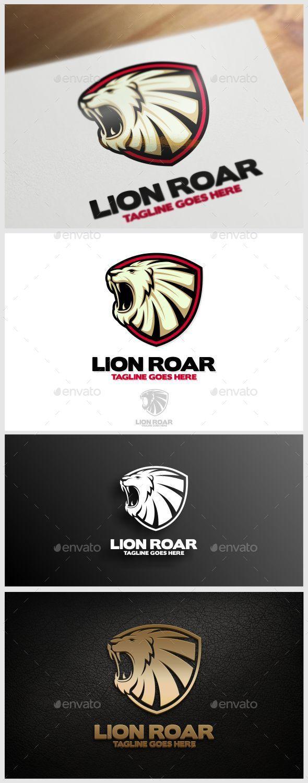Lion Roar Logo Template - Animals Logo Templates