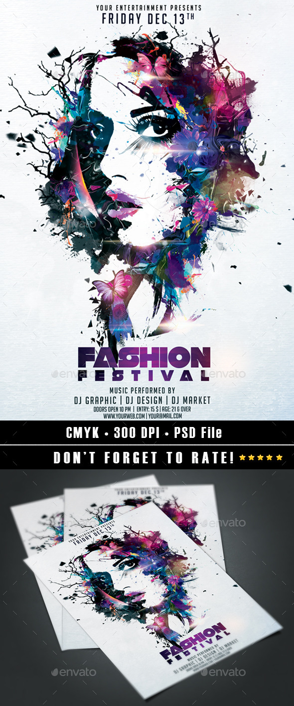Fashion Festival - Events Flyers