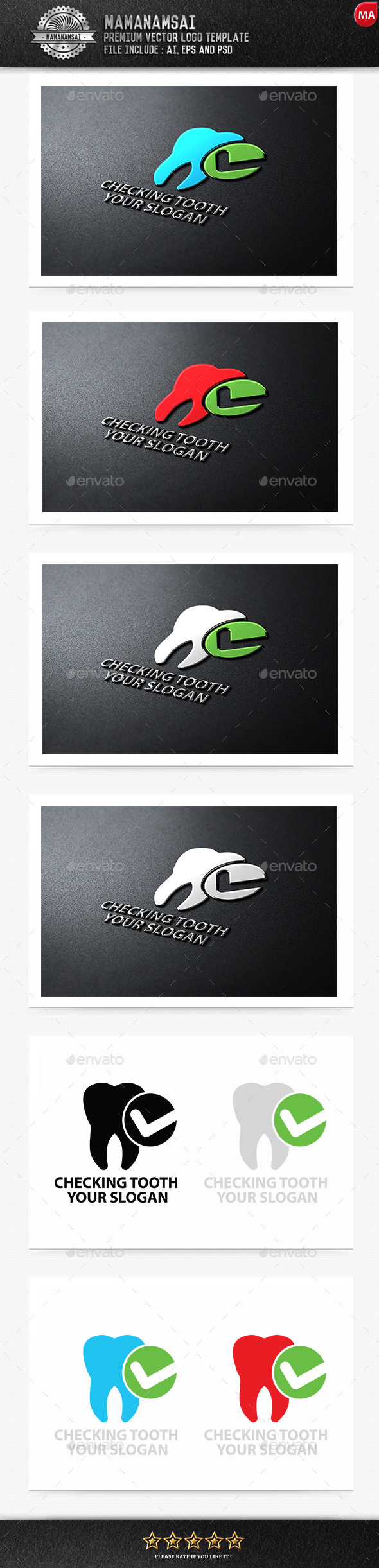 Checking Tooth Logo - Logo Templates