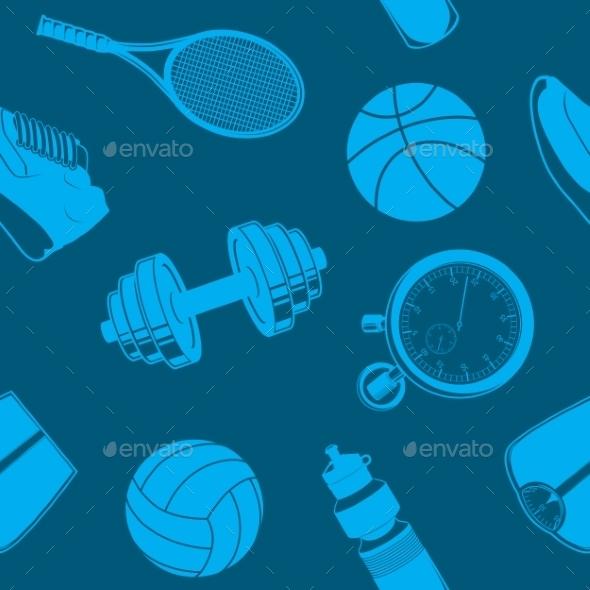 Sport Seamless Pattern - Backgrounds Decorative