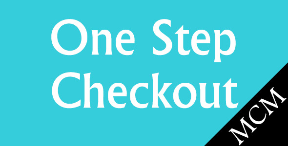 Magento One Step Checkout - CodeCanyon Item for Sale
