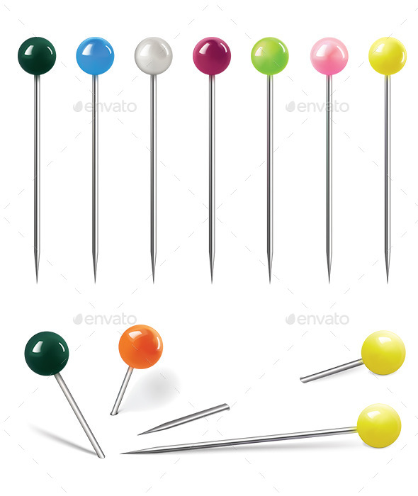 Colorful Pins - Man-made Objects Objects