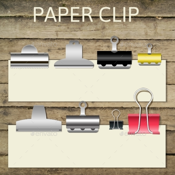 Paper Clips - Objects Vectors