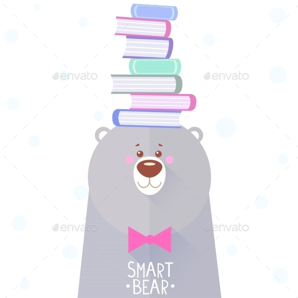 Bear and Books - Animals Characters