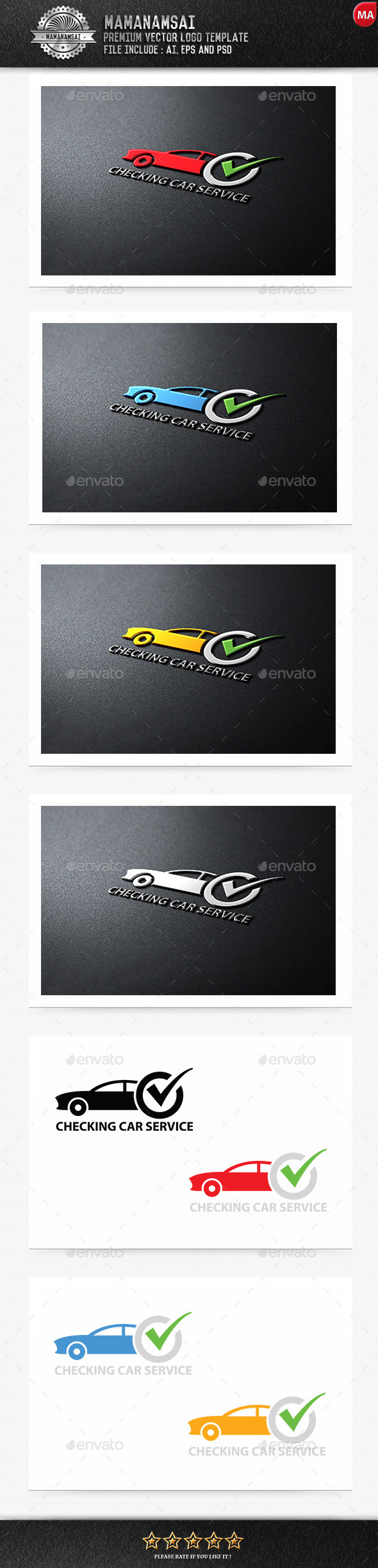 Checking Car Service Logo - Logo Templates