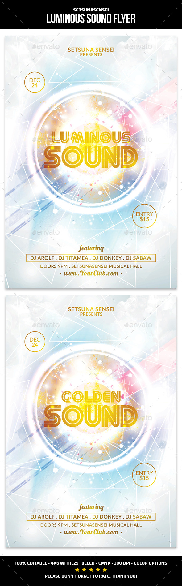 Luminous Sound Flyer - Clubs & Parties Events