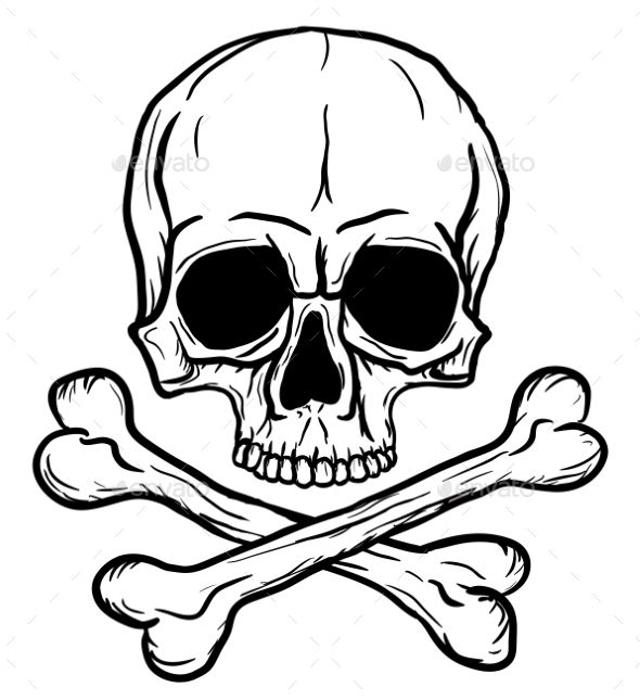 Skull and Crossbones - Tattoos Vectors
