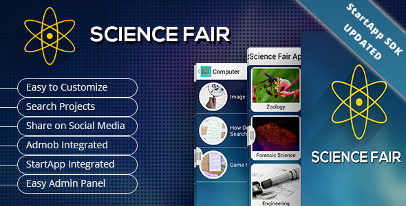 Science Fair App - CodeCanyon Item for Sale