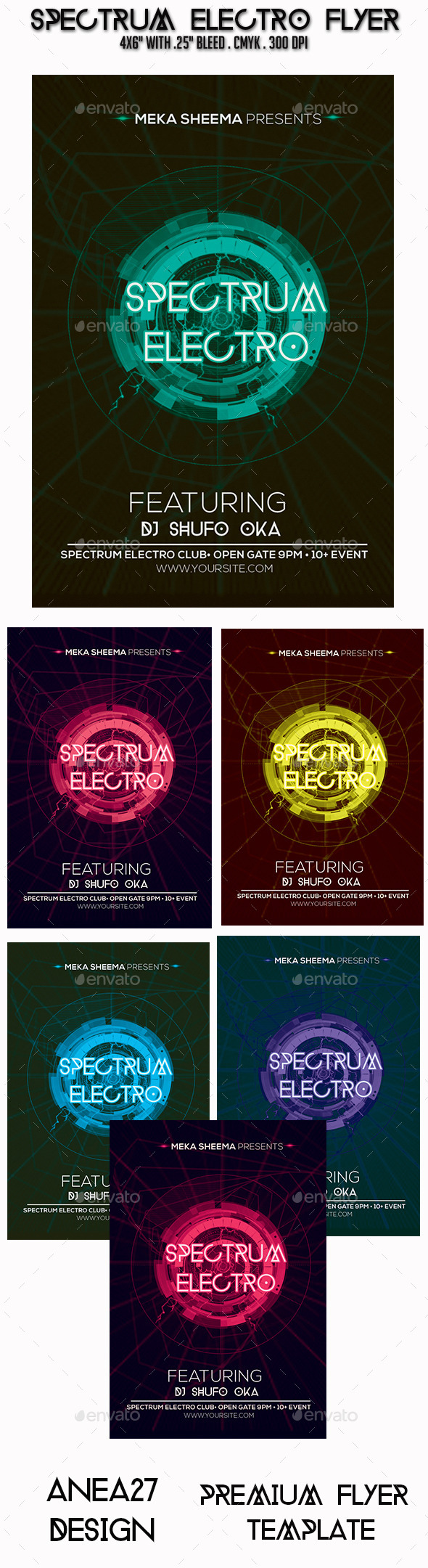 Spectrum Electro Flyer - Clubs & Parties Events