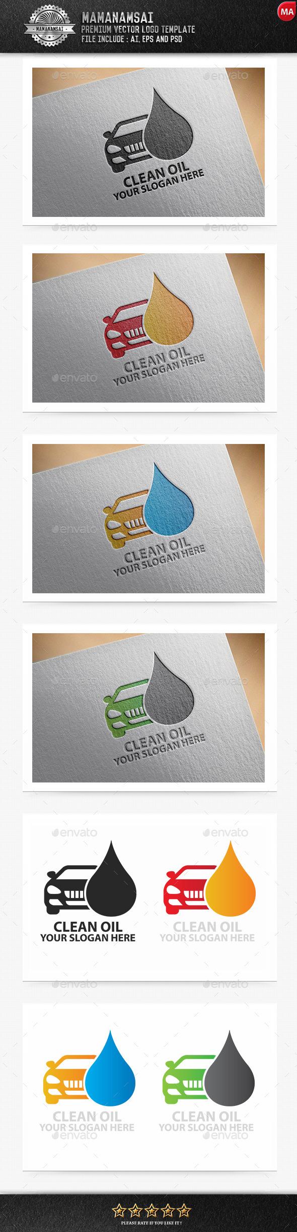Clean Oil Logo - Logo Templates