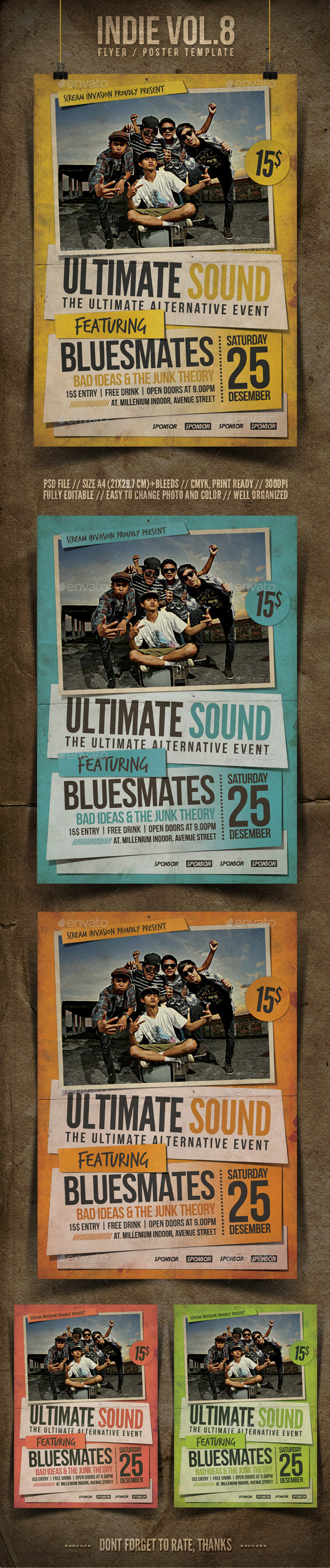 Indie Flyer Template Vol.8 - Concerts Events