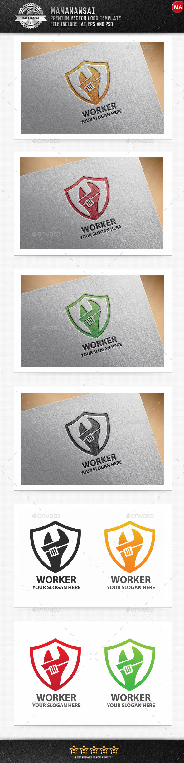 Worker Logo - Logo Templates