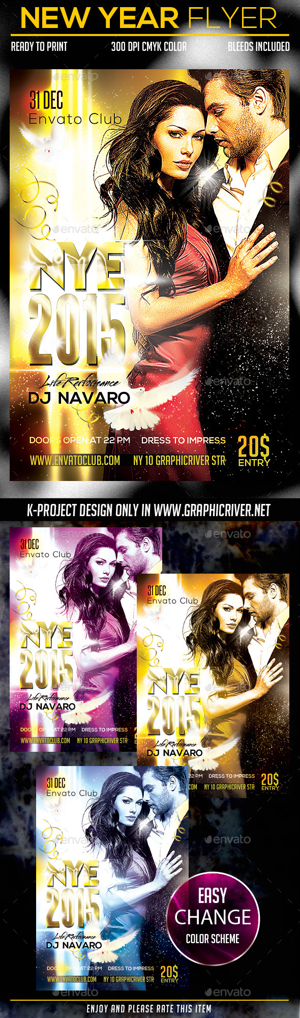 New Year Party Flyer - Clubs & Parties Events