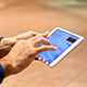 Typing On A Tablet - VideoHive Item for Sale