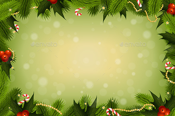 Christmas Card Background By VVaD