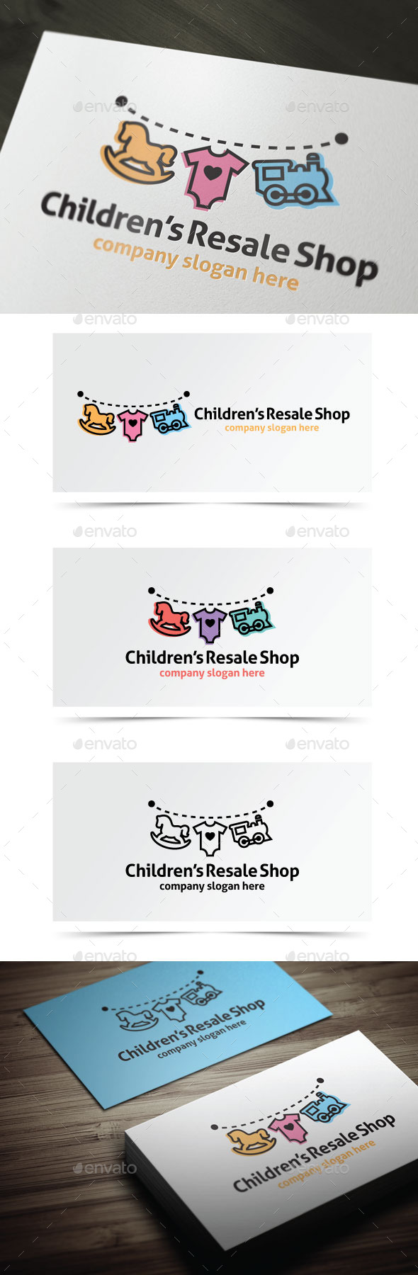 Children's Resale Shop - Objects Logo Templates
