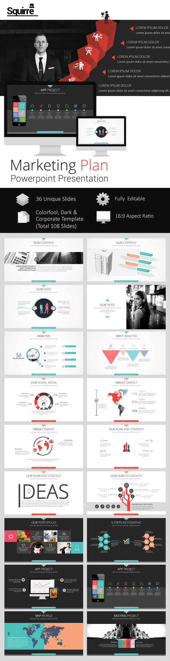 Marketing Plan Powerpoint Presentation - Pitch Deck PowerPoint Templates
