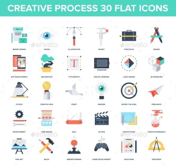 Creative Process - Technology Icons