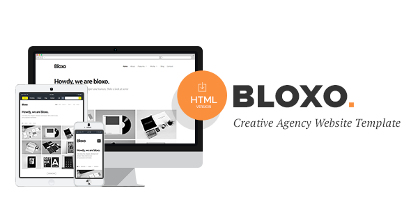 Bloxo - Minimal Freelancer Agency HTML5 Template - Portfolio Creative