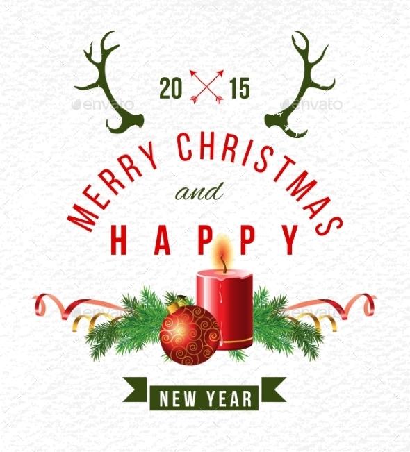 Christmas Background with Type Design - Christmas Seasons/Holidays