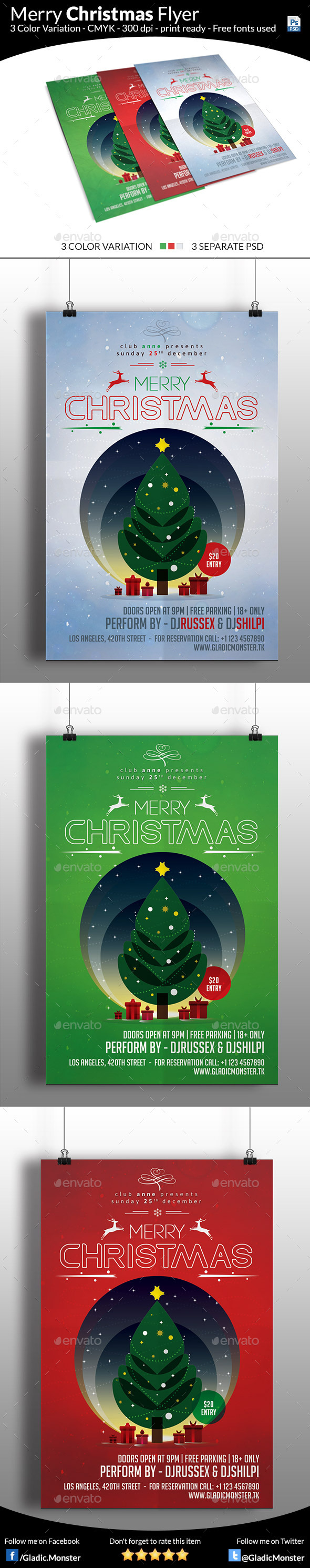 Minimal Christmas Flyer - Events Flyers