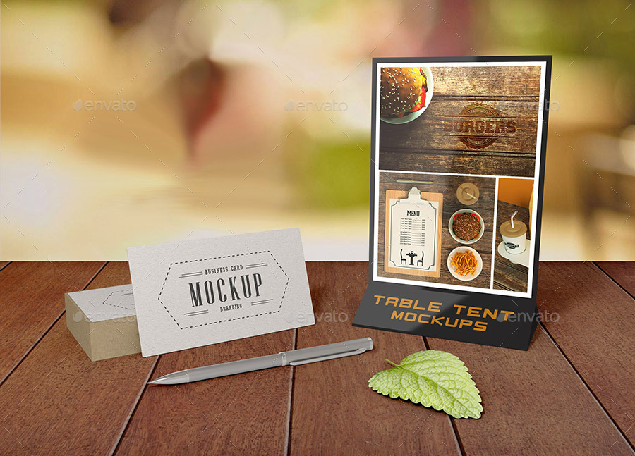 Table Tent Mock Ups By Lesago Graphicriver