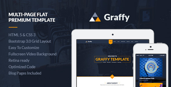 Graffy – Responsive Multi-Purpose Flat Template
