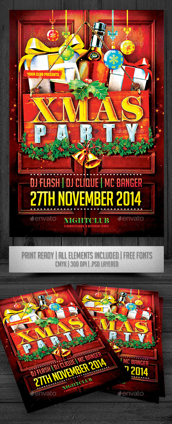 XMAS Party Flyer - Events Flyers