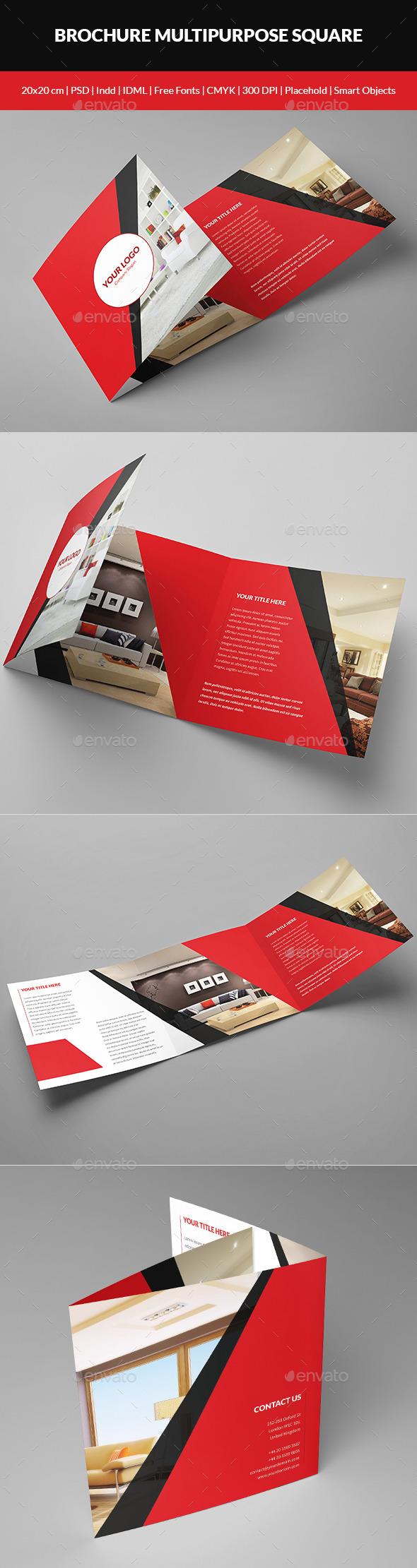 Brochure Multipurpose Square - Brochures Print Templates