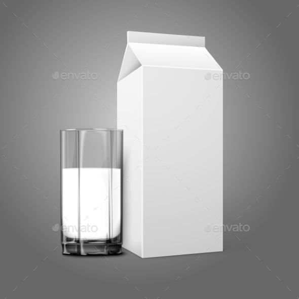 Blank Package with Milk Glass - Man-made Objects Objects