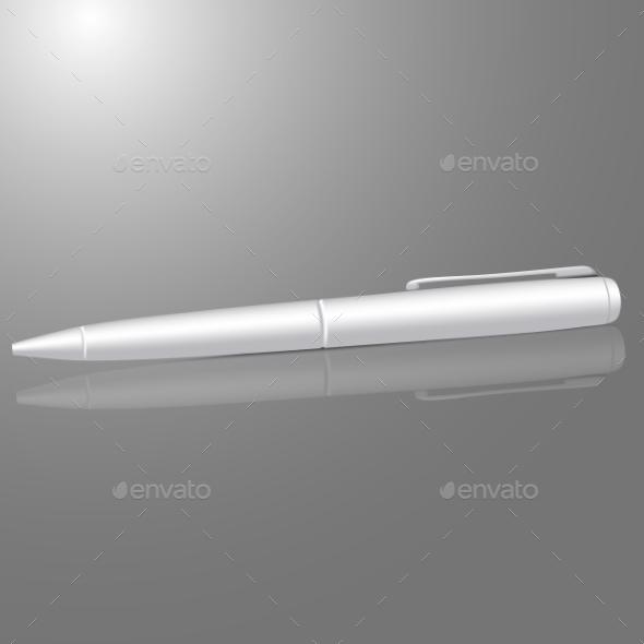 Blank Pen - Man-made Objects Objects