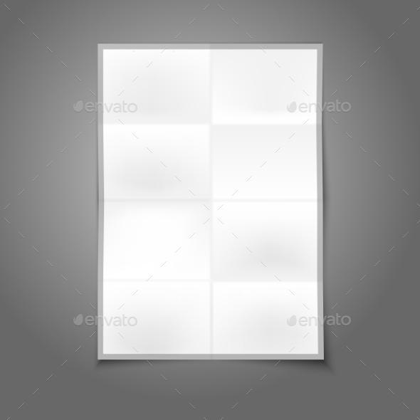 Blank Folder Paper - Man-made Objects Objects