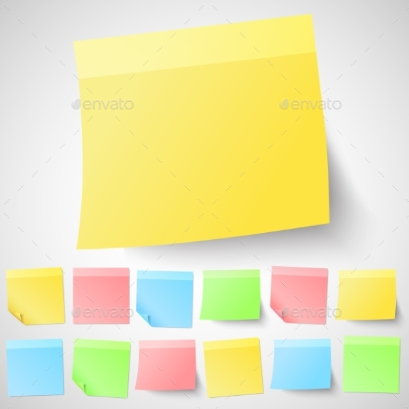Adhesive Sticky Notes - Man-made Objects Objects
