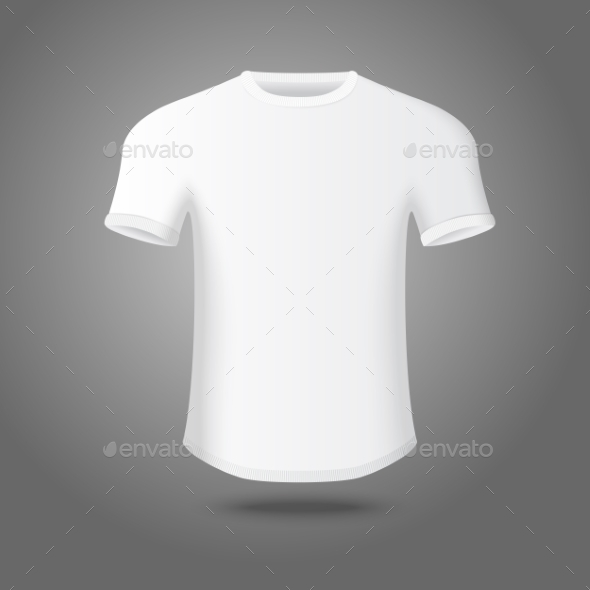 Blank Male T-Shirt Template - Man-made Objects Objects