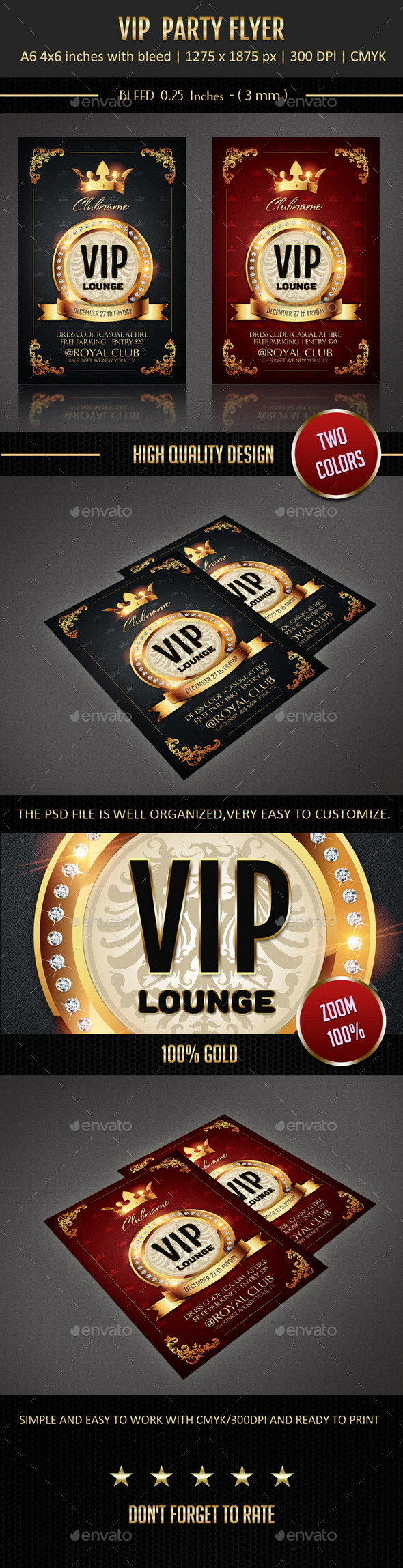 Vip Party Flyer - Flyers Print Templates