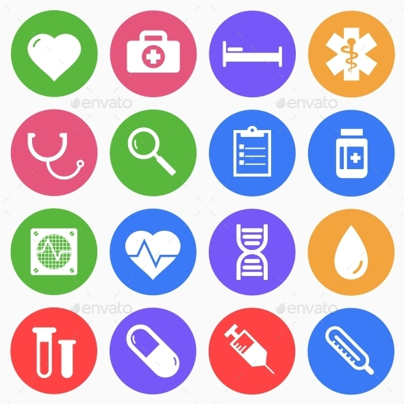 Medical Flat Icons - Web Icons