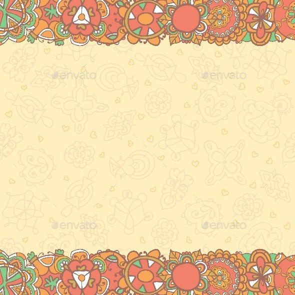 Template Design for Greeting Card - Backgrounds Decorative