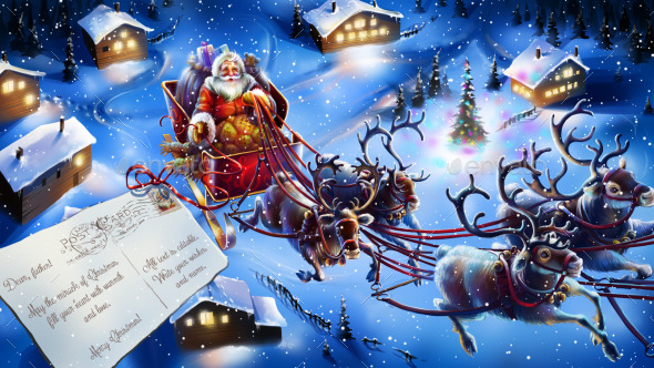 Christmas Post Card - Characters Illustrations