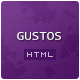 "Gustos - The complete UI for a ""recipe website"""