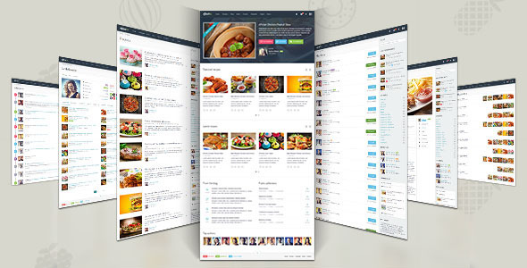 "Gustos – The complete UI for a ""recipe website"""
