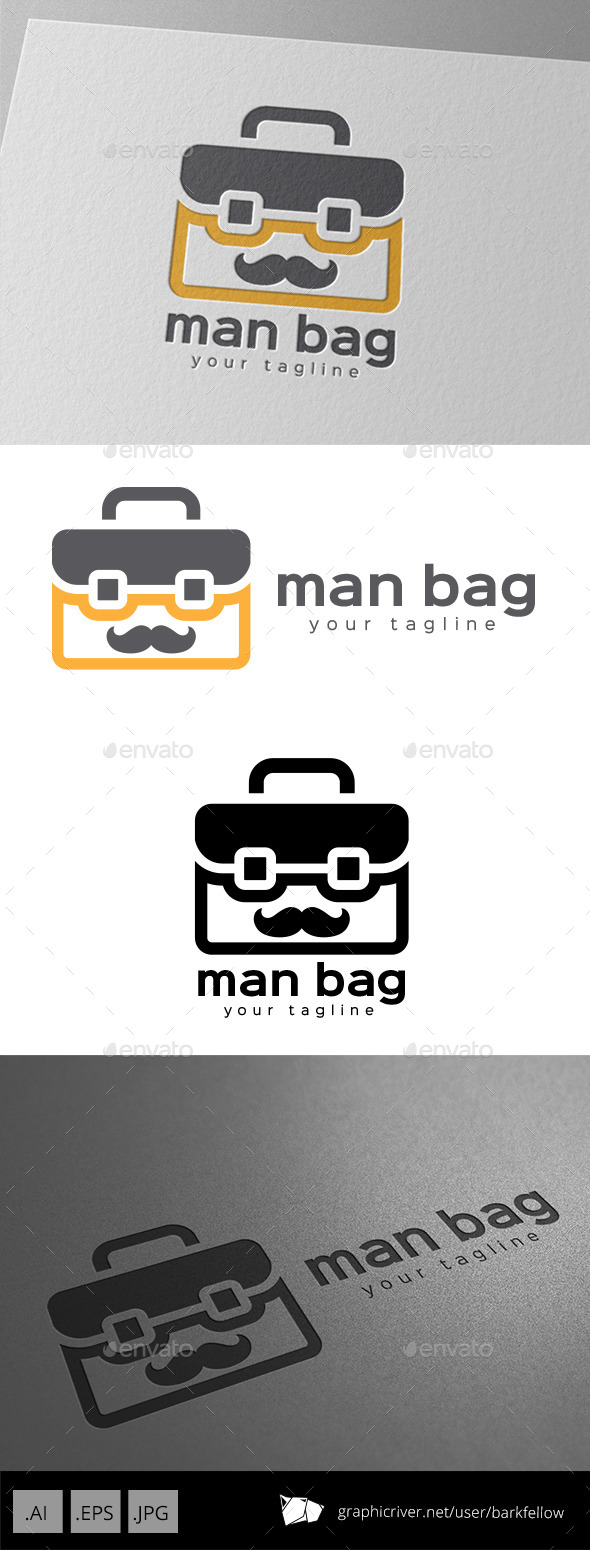 Business Travel Bag Logo - Objects Logo Templates