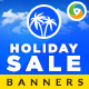 Vacation Banner Design Set - GraphicRiver Item for Sale