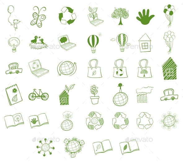 Different Eco-Friendly Objects - Miscellaneous Vectors