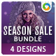 Sale Banners Bundle- 4 Sets - GraphicRiver Item for Sale