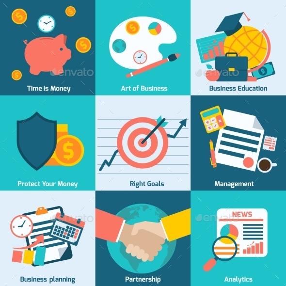 Business Concept Set - Web Technology