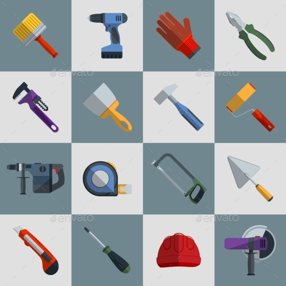 Repair Construction Tools - Objects Icons