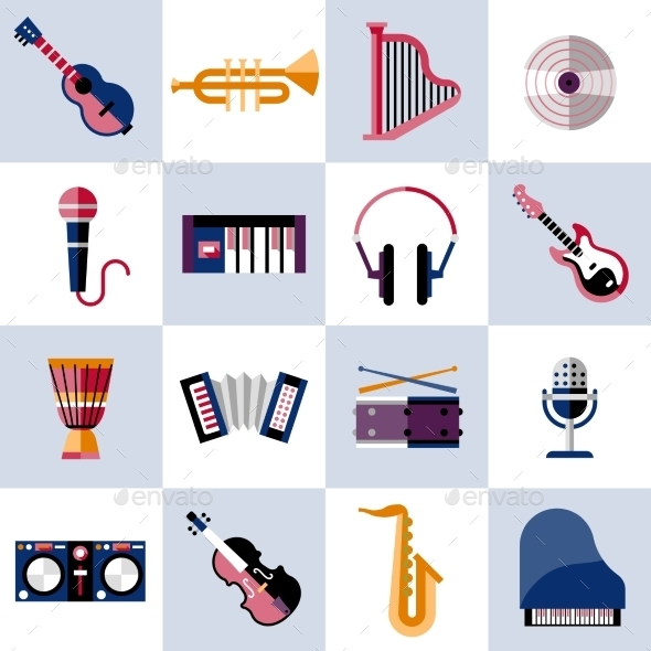 Musical Instruments Set - Objects Icons