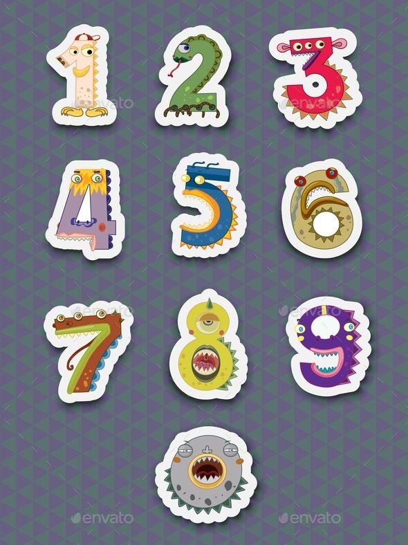 Number Stickers - Miscellaneous Vectors