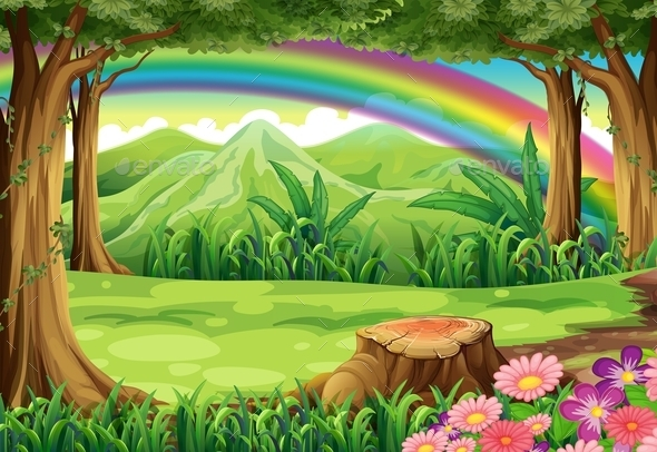 A Rainbow and a Forest - Landscapes Nature