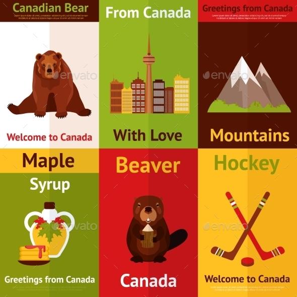 Canada Mini Poster Set - Travel Conceptual